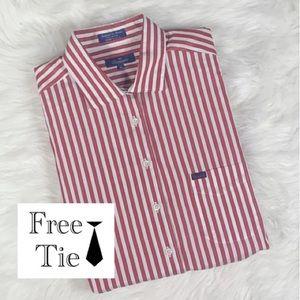 FACONNABLE Men's Button Down Dress Shirt